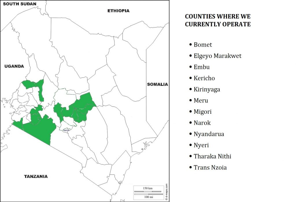Areas where we are promoting bamboo farming